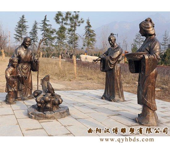 二十四孝雕塑,玻璃钢树脂仿铜雕塑