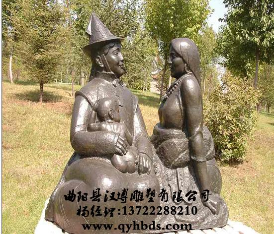 蒙古族人物雕塑,少数民族雕塑,小品雕塑-ds716_小品