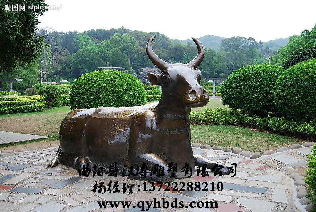 玻璃钢雕塑 动物雕塑 牛雕塑_小品雕塑,人物雕塑,商业