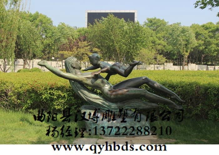 人物雕塑_母子雕塑_公园小品雕塑